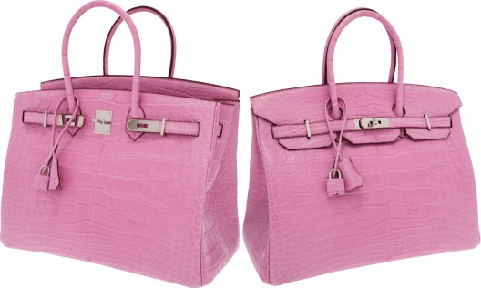 Hermes Extremely Rare 35cm Matte Pink 5P Alligator Birkin Bag