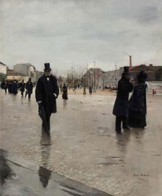 Jean Beraud's Leaving Montmartre Cemetery
