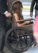 Lady Gaga is Still Recovering, This Time in Louis Vuitton Wheelchair