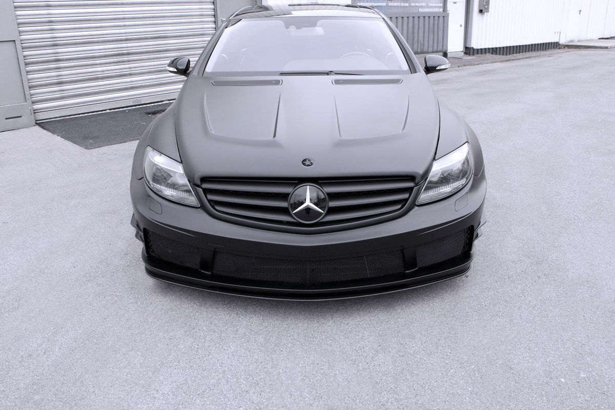 Mercedes benz cl 500 black matte edition by famous parts for Matte mercedes benz