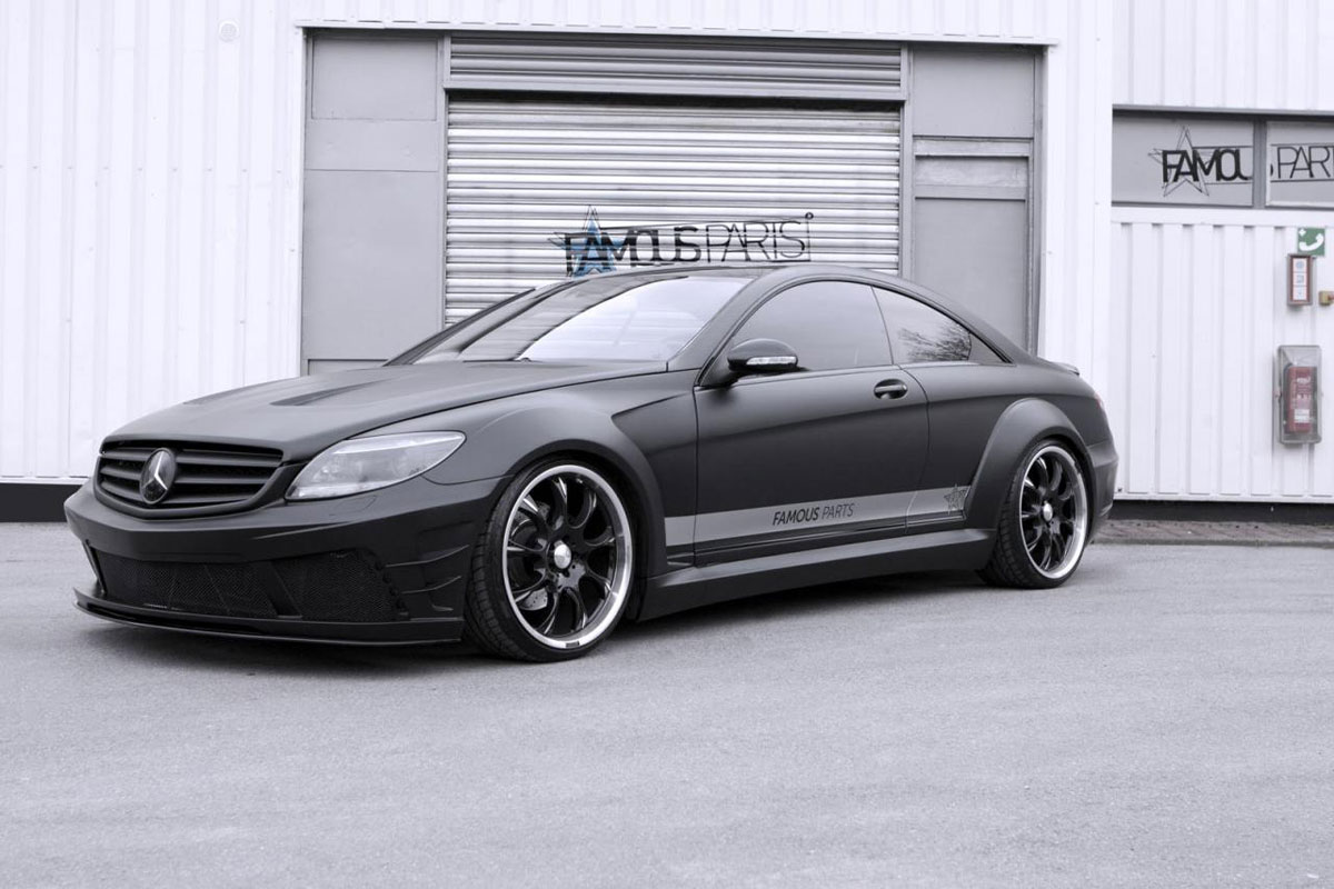 Mercedes benz cl 500 black matte edition by famous parts for Matte black mercedes benz