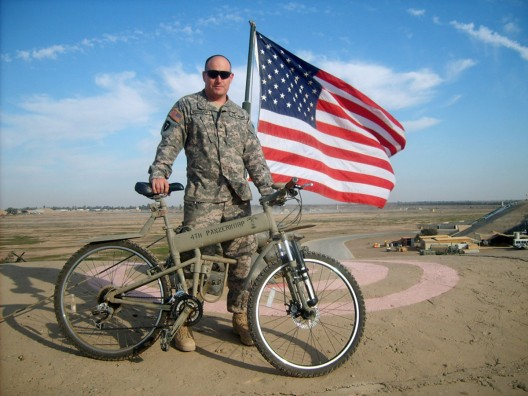 Designed in collaboration between Montague and the Marine Corps, this nifty mountain bike is specifically built for paratroopers who are dropped into rough environments