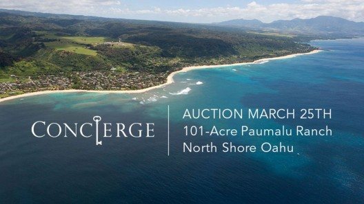 On April 30th Concierge Auctions will sell the 110-Acre Paumalu Ranch on the North Shore of Oahu, Hawaii to the highest bidder