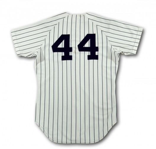 Reggie Jackson's Yankees jersey worn in the 1977 World Series up for sale