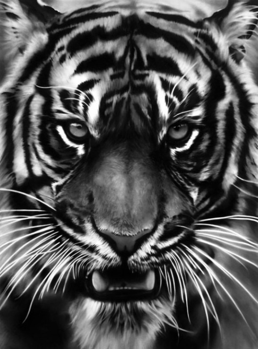 Robert Longo Untitled (Leo) Charcoal