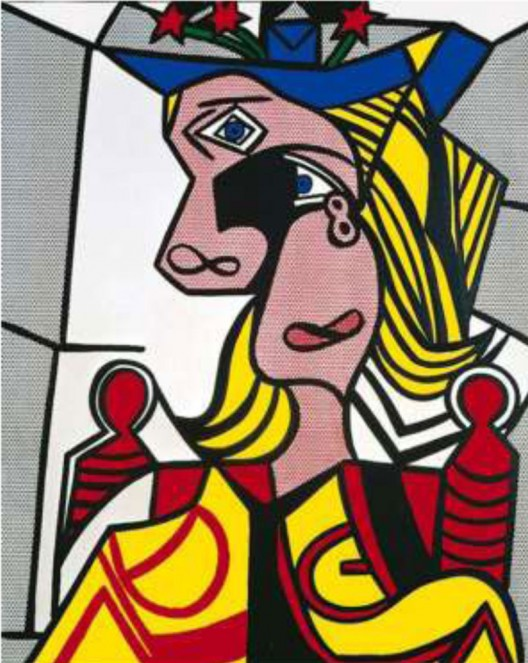Roy Lichtenstein (1923-1997) Woman with Flowered Hat Magna on canvas