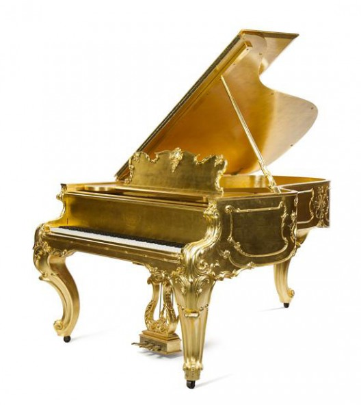 Steinway & Sons Louis XV Giltwood Gold Piano