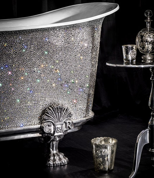 The Swarovski Element Saracen bath, by Catchpole & Rye