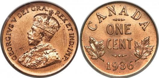 George V 1936 Dot Cent
