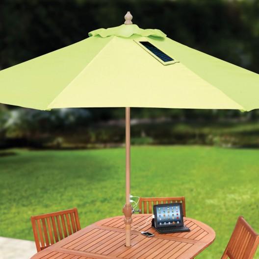 USB-Charging Solar Umbrella