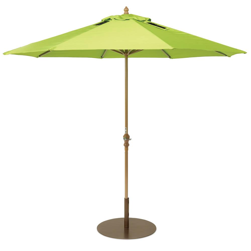 Innovative outdoor patio umbrella allows you charge your for Outdoor patio umbrellas