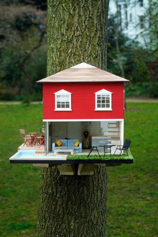 Clas Ohlson creates a super luxurious birdhouse for your garden