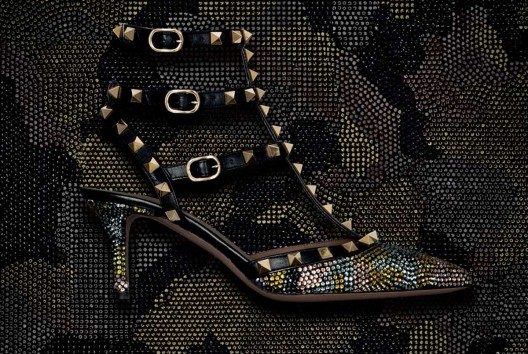 Swarovski Camouflage Rockstuds Collection by Valentino