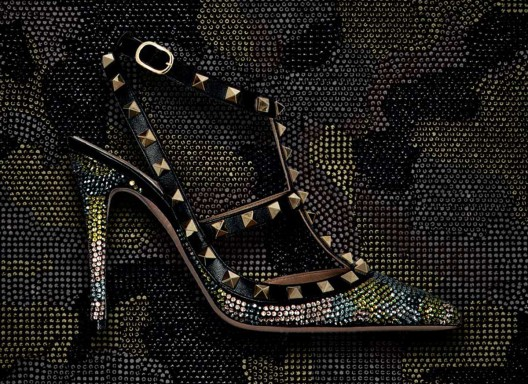 Valentino Swarovski Camouflage Collection