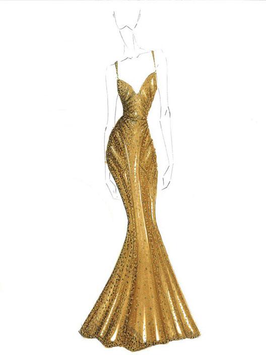 Zac Posen's $1.5 Million 24K Gold Dress