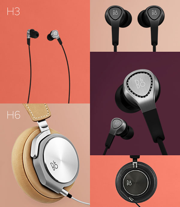 new bang and olufsen beoplay h3 and h6 headphones. Black Bedroom Furniture Sets. Home Design Ideas