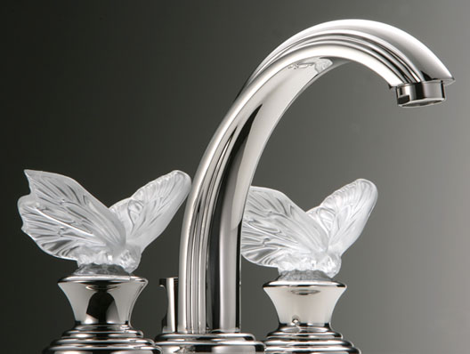 THG unveils three Lalique crystal faucets to jazz up a bathroom