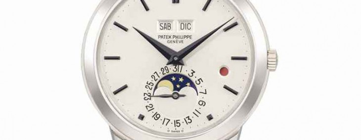 SIGNED PATEK PHILIPPE, GENÈVE, REF. 3448, MOVEMENT NO. 1'119'580, CASE NO. 332'620, MANUFACTURED IN 1981