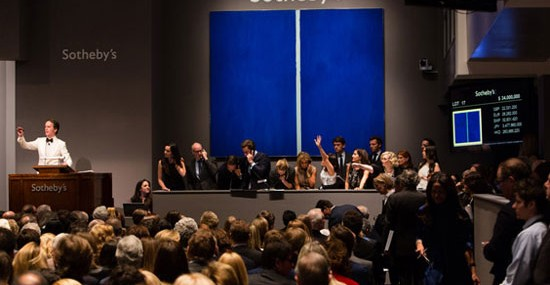 Barnett Newmans Blue Hued Painting Sold for $43.8 Million at Sotheby&#8217;s