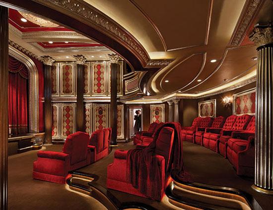 3 million crimson home theater extravaganzi - Home theater design dallas inspired ...