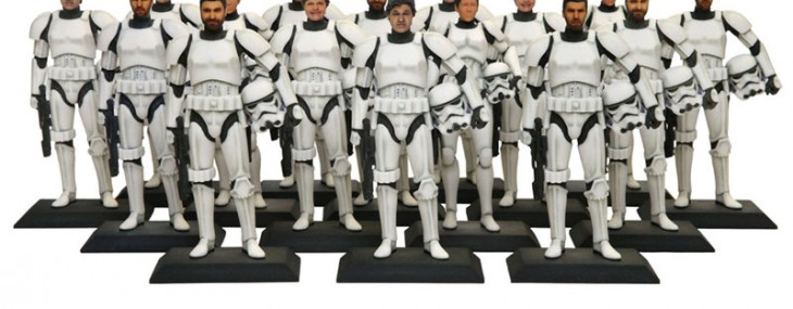 Star Wars Stormtrooper Figurine with Your Face
