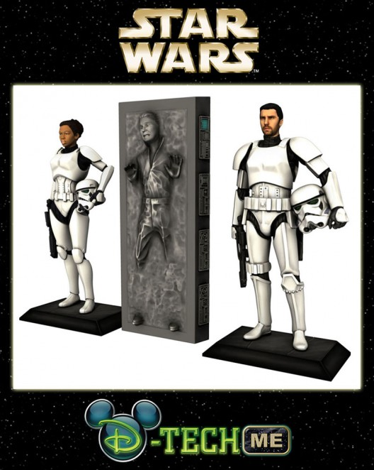 Turn yourself into a stormtrooper figurine at Disney's Star Wars Weekend