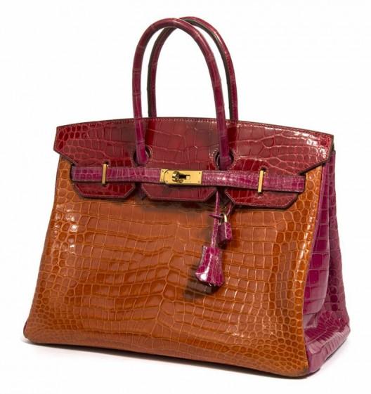 A Crocodile-skin Hermes Birkin Handbag