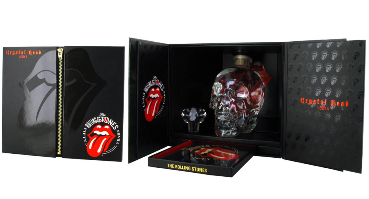 crystal head vodka rolling stones commemorative 50th anniversary edition gift