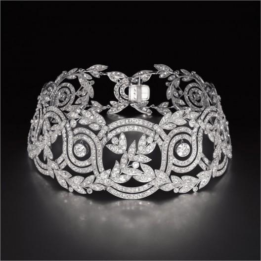 Exquisite Aantique Diamond Elise Choker