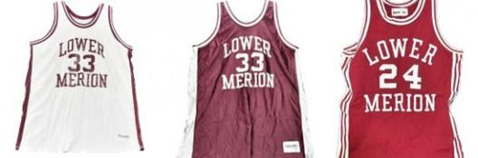 Kobe Bryant' Lower Merion High School jerseys