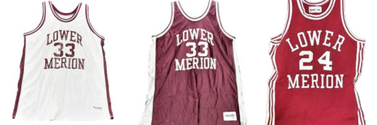 Kobe Bryant' Lower Merion High School jerseys