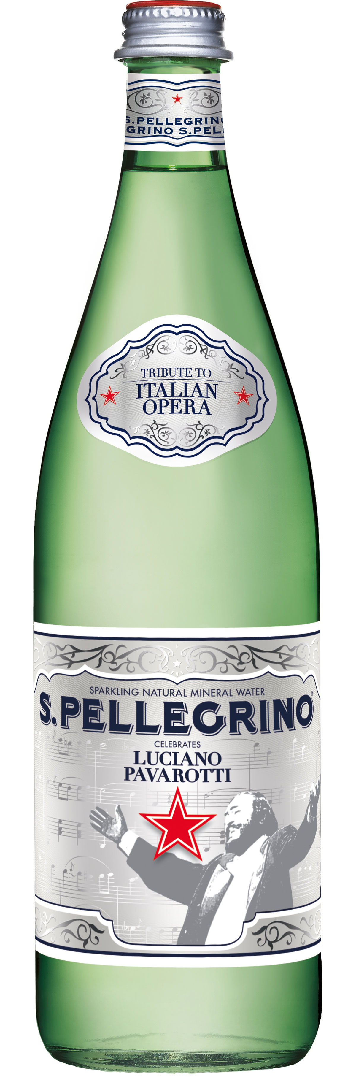 Limited Edition Luciano Pavarotti Sparkling Mineral Water