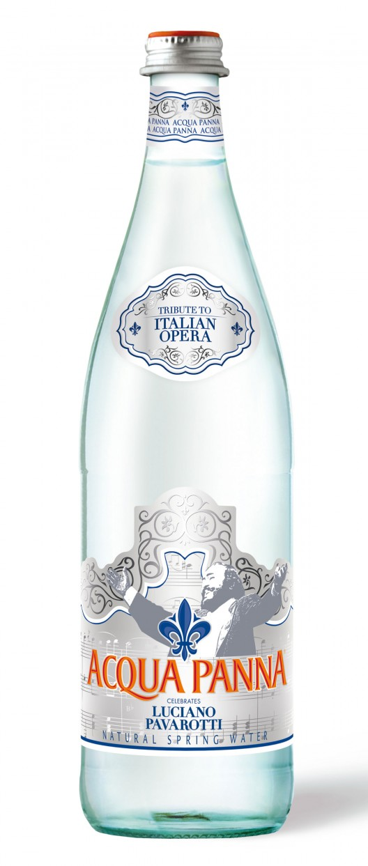 S.Pellegrino has partnered with the Luciano Pavarotti Foundation to create a limited edition Pavarotti sparkling mineral water as a tribute to the unforgettable Maestro