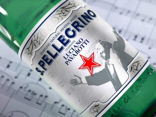 Luciano Pavarotti Sparkling Mineral Water by San Pellegrino