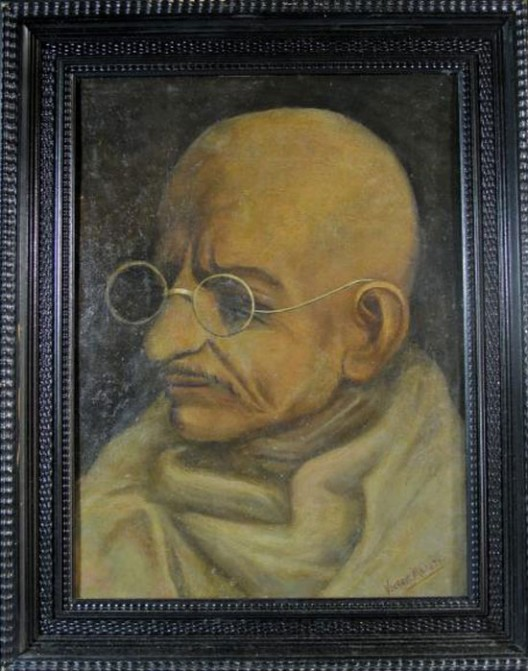 One Of The Finest Paintings Of Mahatma Gandhi