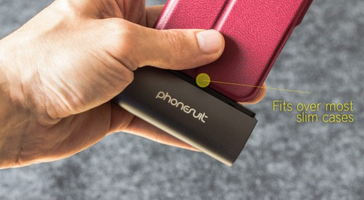 The PhoneSuit Flex Pocket Charger for iPhone & iPod gives you the freedom to to charge your iPhone 5 instantly anywhere, without the use of wires or reaching a power outlet