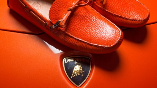 Prada Group's CarShoe marks Lamborghini's 50th anniversary with a special moccasin