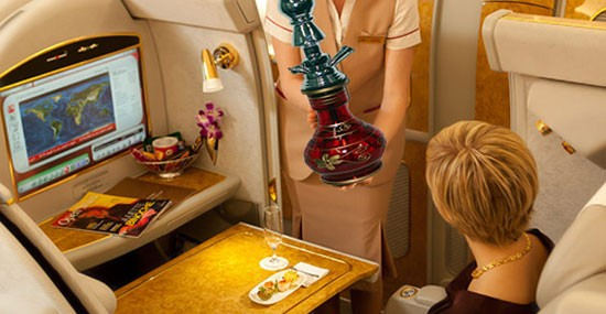 Shisha Lounges in Emirates for High Class Passengers