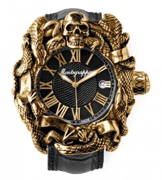 Silvester Stallone's Chaos Automatic Analogue Wristwatch by Montegrappa