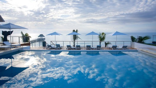 Adult Only, All Suites Blue Diamond Riviera Maya may be less than an hour away from Cancun, but it carries guests far away on a journey of luxurious rejuvenation