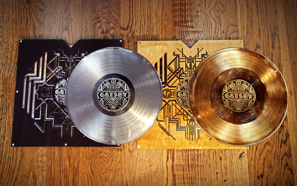 Limited in numbers, The Great Gatsby – Gold & Platinum Limited Edition Metallized Record Set is now available as pre-order through Third Man Records online store and its Nashville retail location for $250