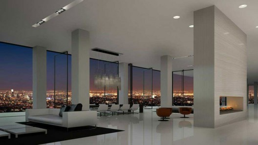 The 15th-floor penthouse at the Residences at W Hollywood in Los Angeles is on the market for $45 million