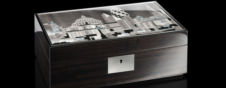 Linley is launched a series of 50 Limited Edition London Boxes, priced at £4,500 ($6,930) per piece