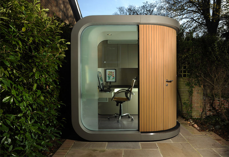 officepod contemporary home office in your backyard extravaganzi