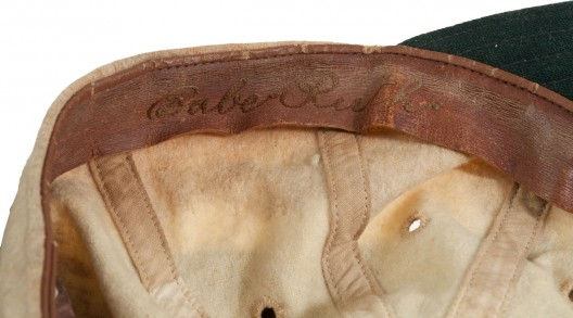 "1927-28 Babe Ruth Game Worn ""Bustin' Babes"" Barnstorming Cap"