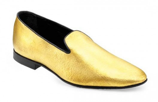 Alberto Moretti is going for the gold with the creation of the first wearable pair of 24-karat gold shoes