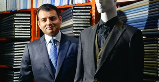 Arshad Mahmood shows off Apsley Tailors' HK$1 million suit