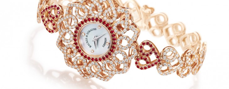 Backes and Strauss, founded in 1789 and is the world's oldest diamond company, and they joined the Only Watch auction 2013 with its new masterpiece, the Victoria Princess Red Heart watch.