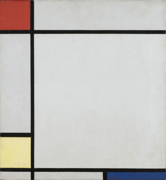 Piet Mondrian's Composition with Red, Yellow and Blue from 1927