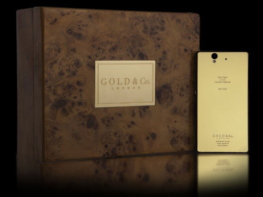 World's first 24 carat Gold Sony Xperia Z unveiled in Dubai